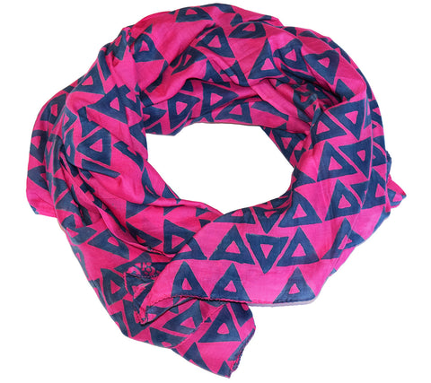 Cotton Silk Scarf | Anushka Super Pink