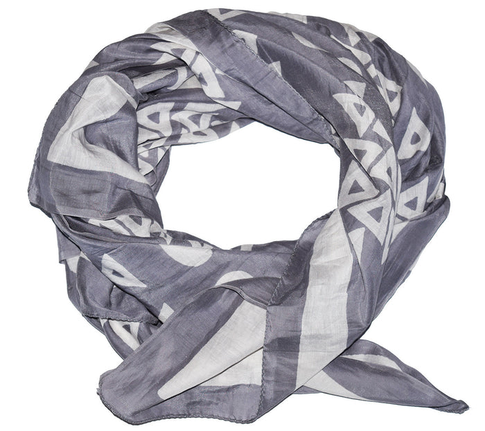 Cotton Silk Scarf | Anushka Smoke