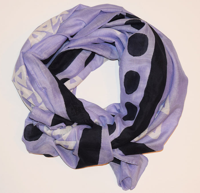 Cotton Silk Scarf | Anushka Thistle