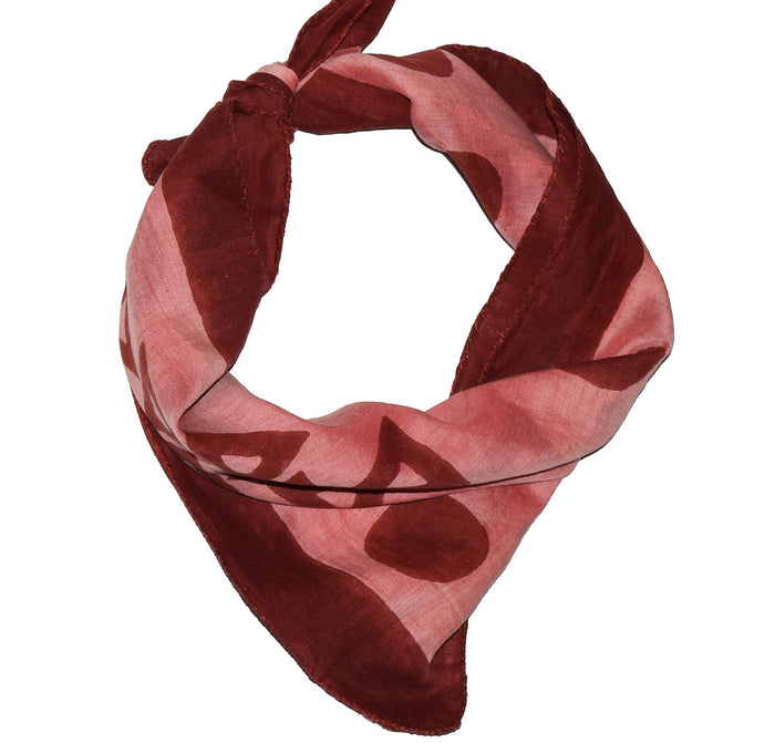 Cotton Silk Bandana | Anushka Burnt Coral