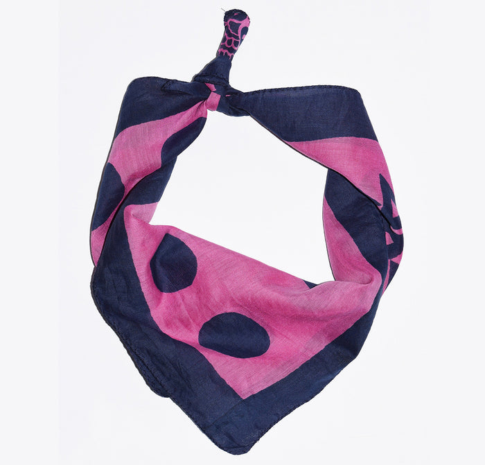 Cotton Silk Bandana | Anushka Raspberry