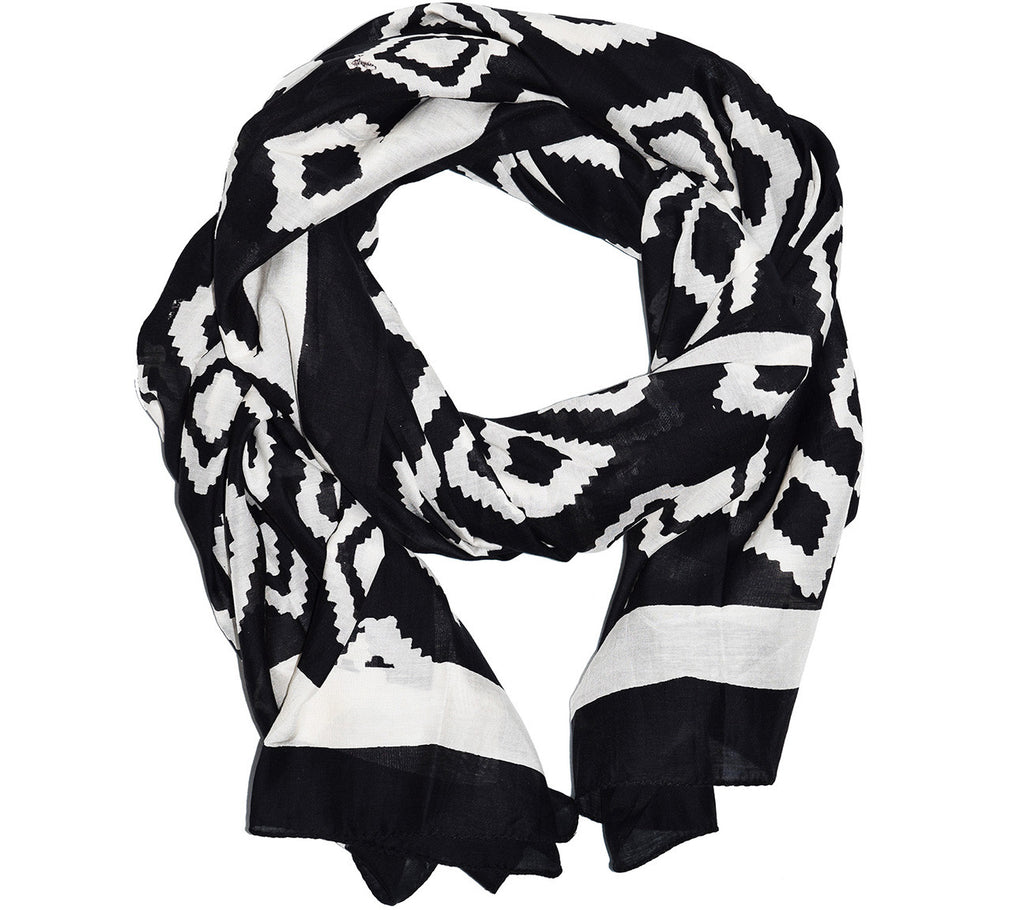 Cotton Silk Scarf | Bali Black