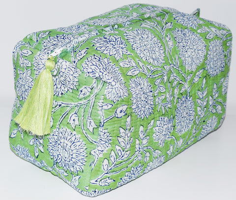 Jumbo Waterproof Toiletry Bag | Peony Green