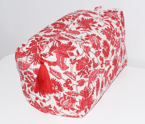 Jumbo Waterproof Toiletry Bag | Cerise Floral