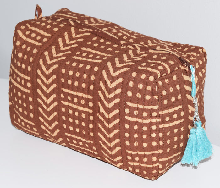 Large Waterproof Toiletry Bag | Terra Chestnut