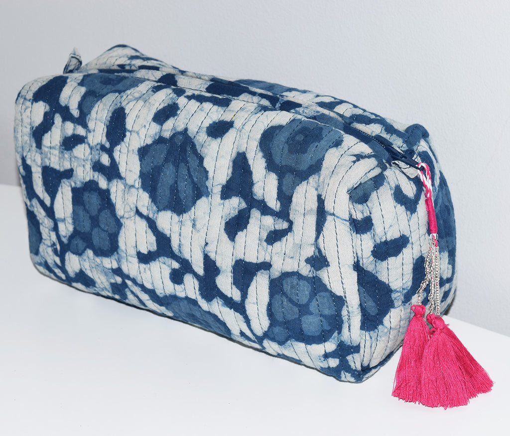 Medium Waterproof Toiletry Bag | Indigo Blooms