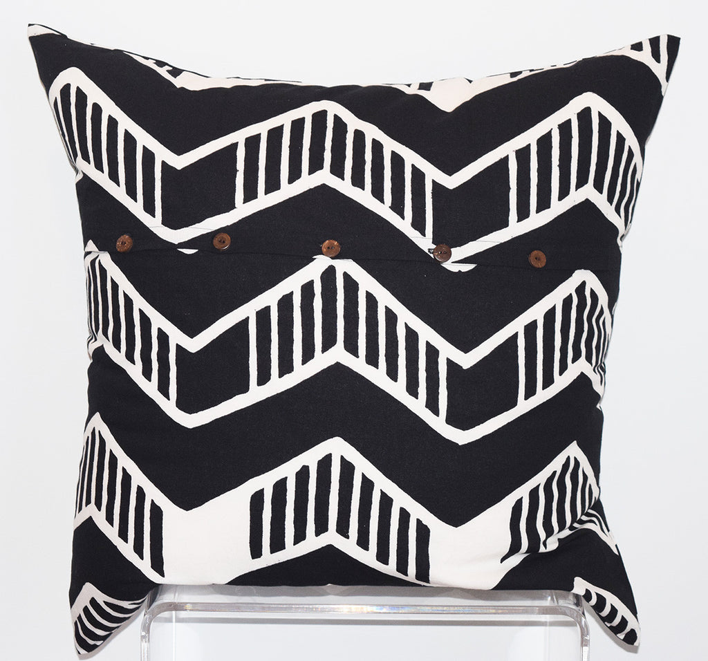 Cotton Floor Pillow | Chari Black