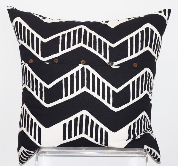 Cotton Floor Pillow | Chari Black + White