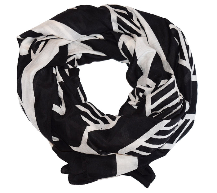 Cotton Silk Scarf | Chari Black