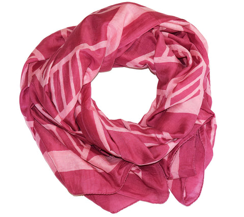 Cotton Silk Scarf | Chari Desert Rose