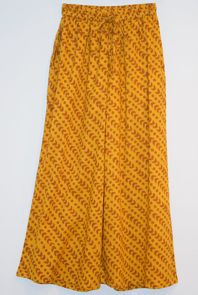 Wide Leg Pant | Crescent Dot Yellow