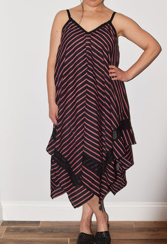 Jodi Dress | Shree Stripe Black