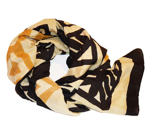 Cotton Silk Scarf | Dom Mustard