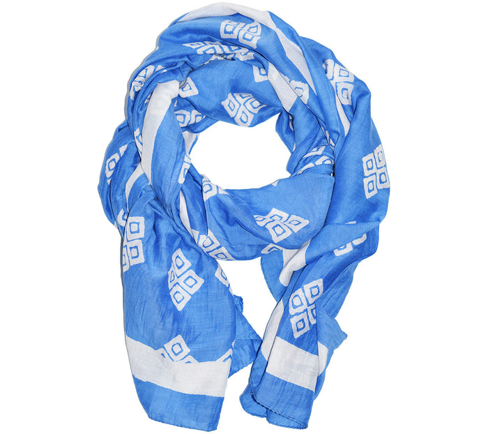 Cotton Silk Scarf | Frida Bluebell