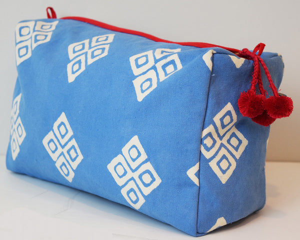 Large Canvas Toiletry Bag | Frida Bluebell