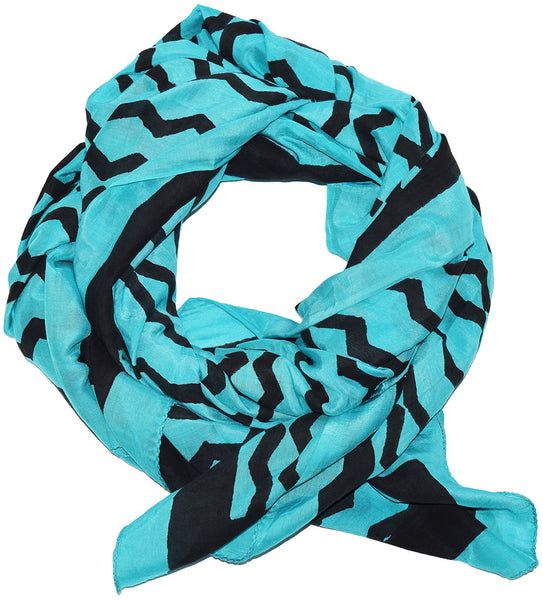 Cotton Silk Scarf | Geri Teal