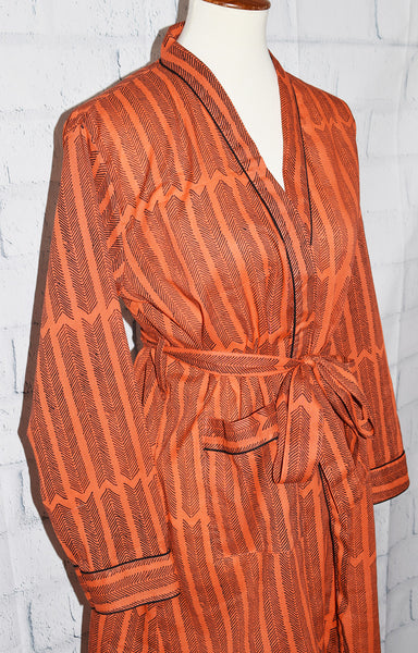 Austin Short Robe | Aiko Burnt Sienna