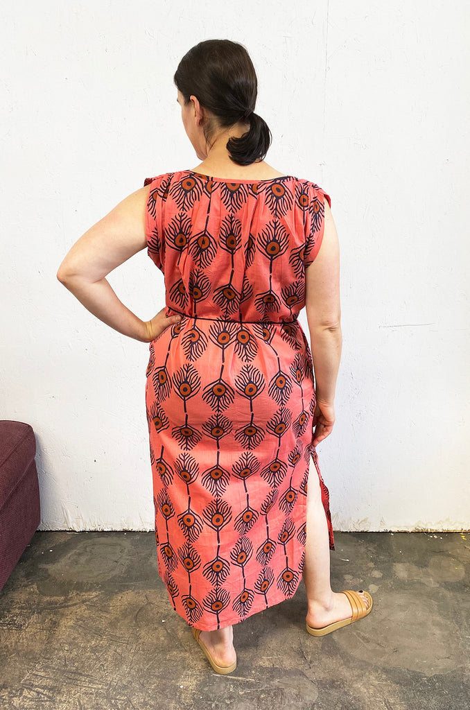 Isabel Dress | Plumes Coral