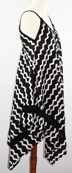 Jodi Dress | Geri Black/White