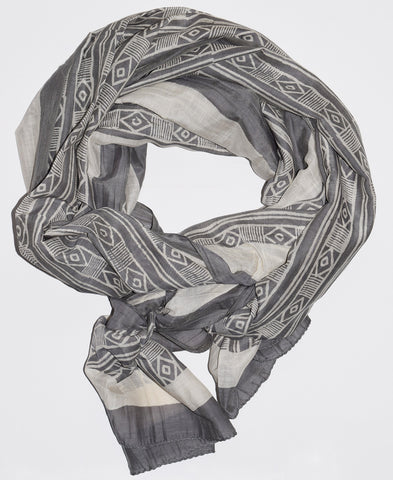 Mud Stripe Scarf | Smoke