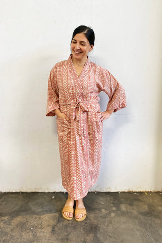 Kerala Long Robe | Terra Blush