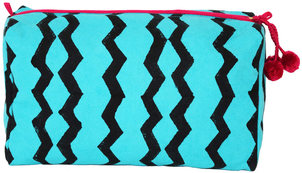 Large Canvas Toiletry Bag | Geri Teal