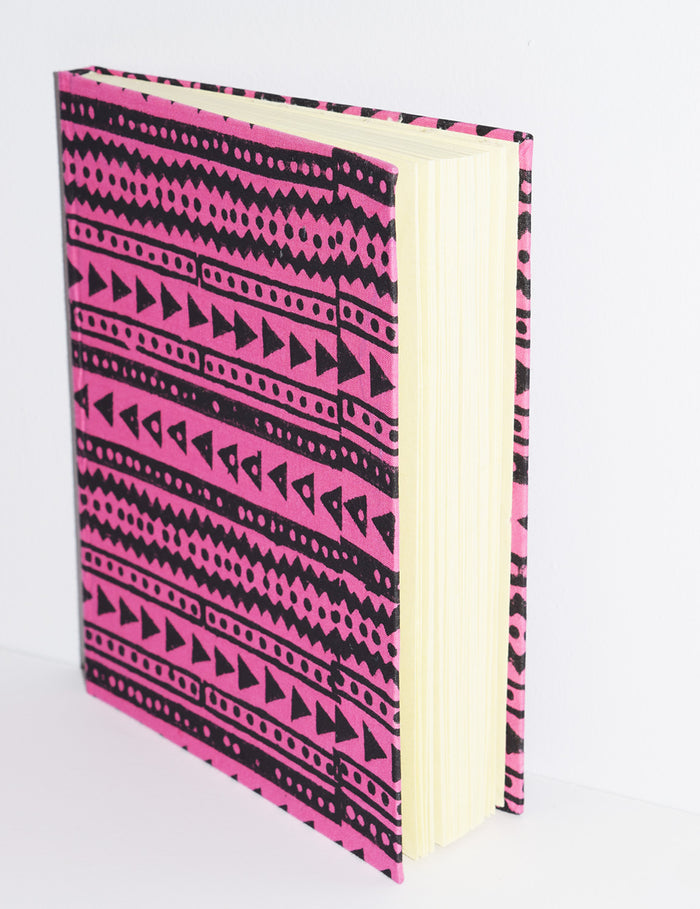Handmade Paper Hardcover Journal | Shela Fuchsia