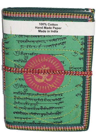 Hindi Script Om Journal | Green