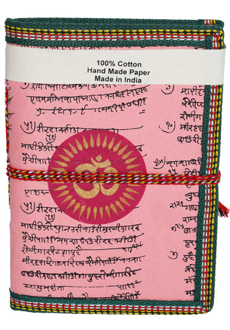 Hindi Script Om Journal | Pink