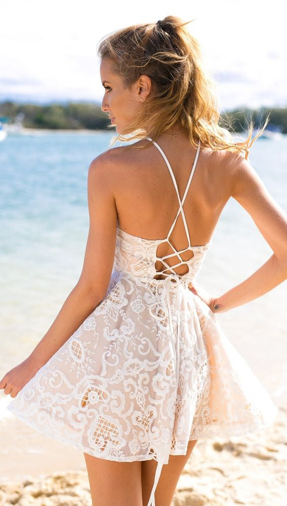 Santorini Lace Dress - Lovecy - 3