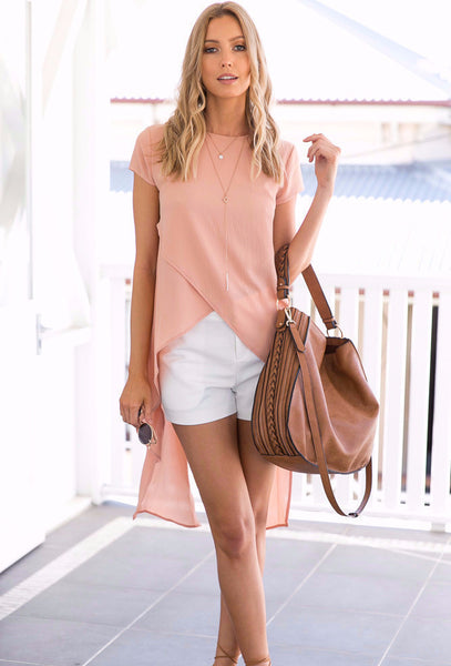 Illuminate Top - Peach