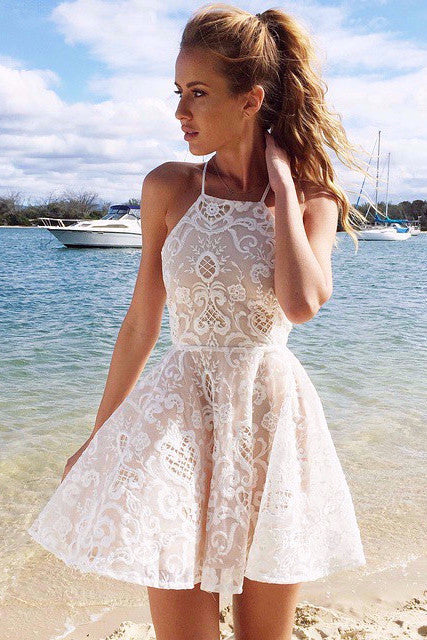 Santorini Lace Dress - Lovecy - 1