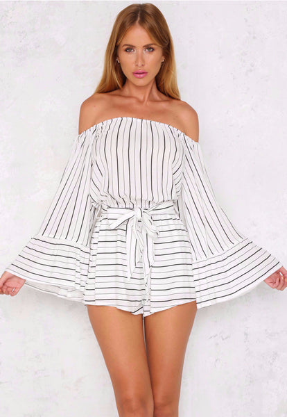 City Slickers Playsuit White