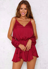 Serena Playsuit - Wine
