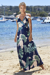 Cuban Maxi Dress Navy
