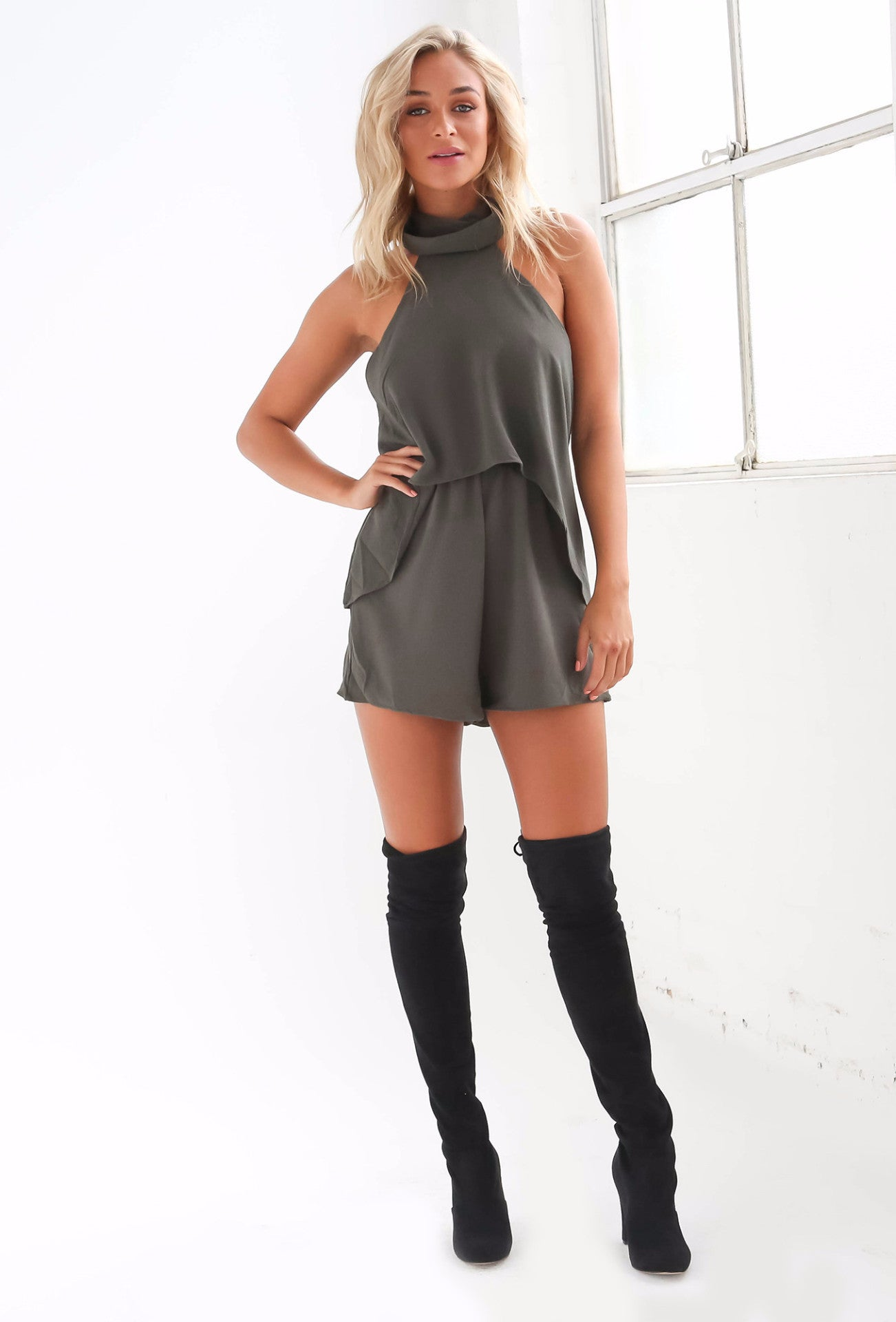 Another Chance Playsuit - Khaki - Lovecy - 3