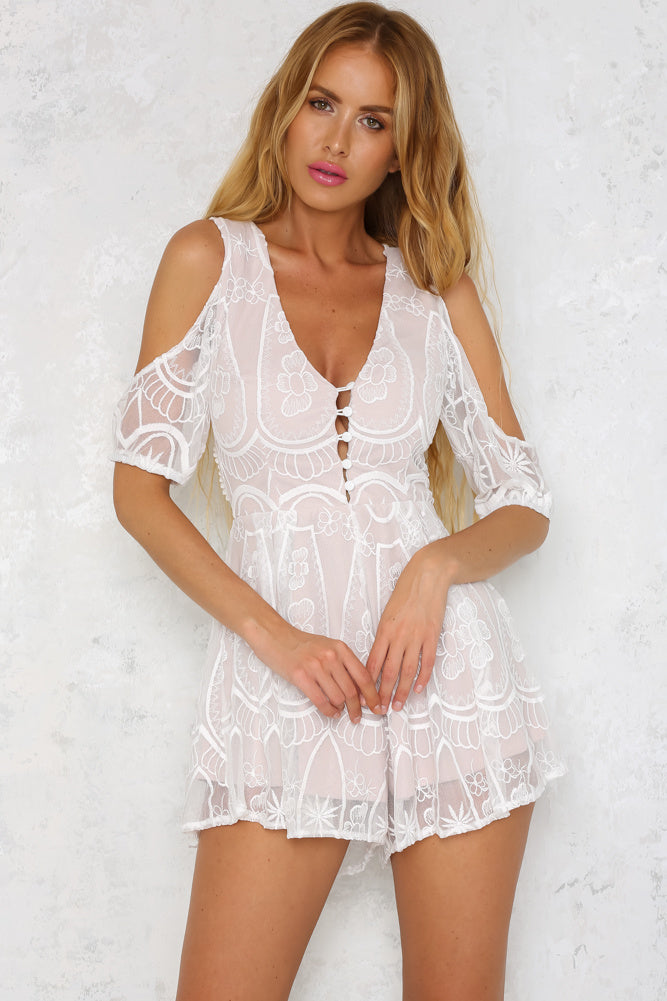 Pure Perfection Playsuit - White