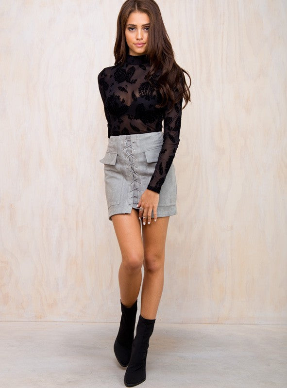 Clio Skirt Grey - Lovecy - 4