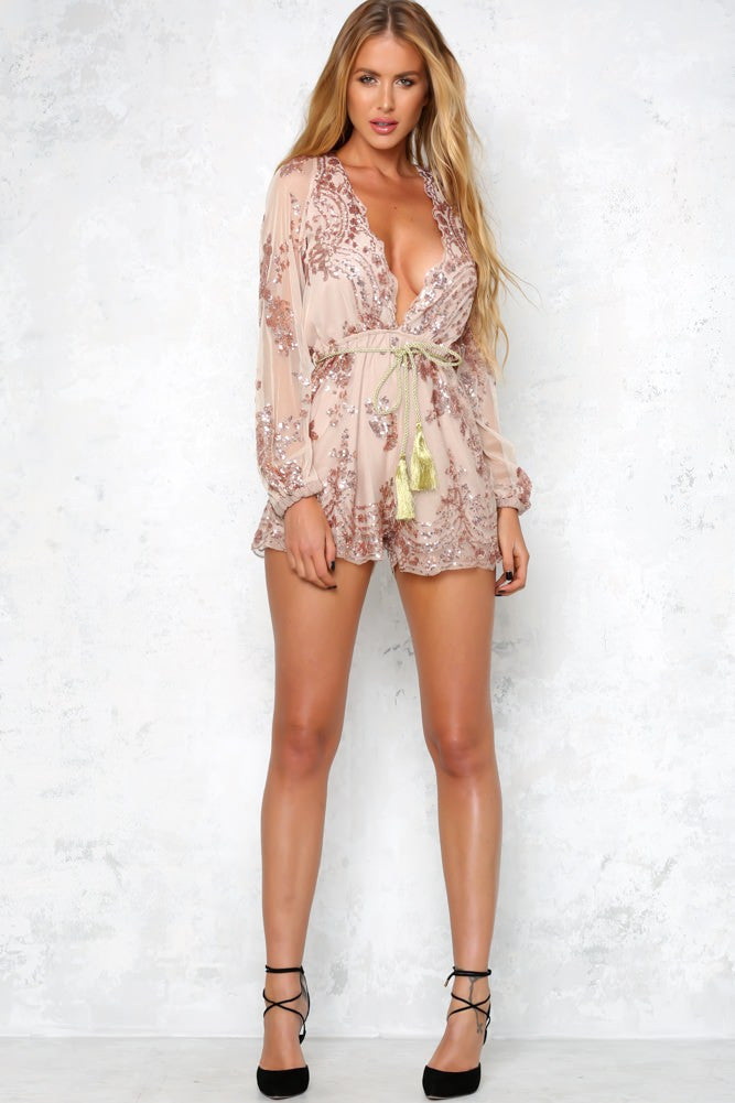 Lust Lux Playsuit Rose Gold - Lovecy - 7
