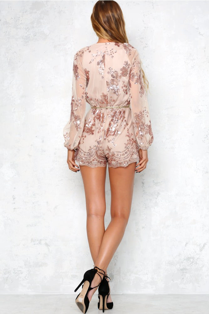 Lust Lux Playsuit Rose Gold - Lovecy - 5