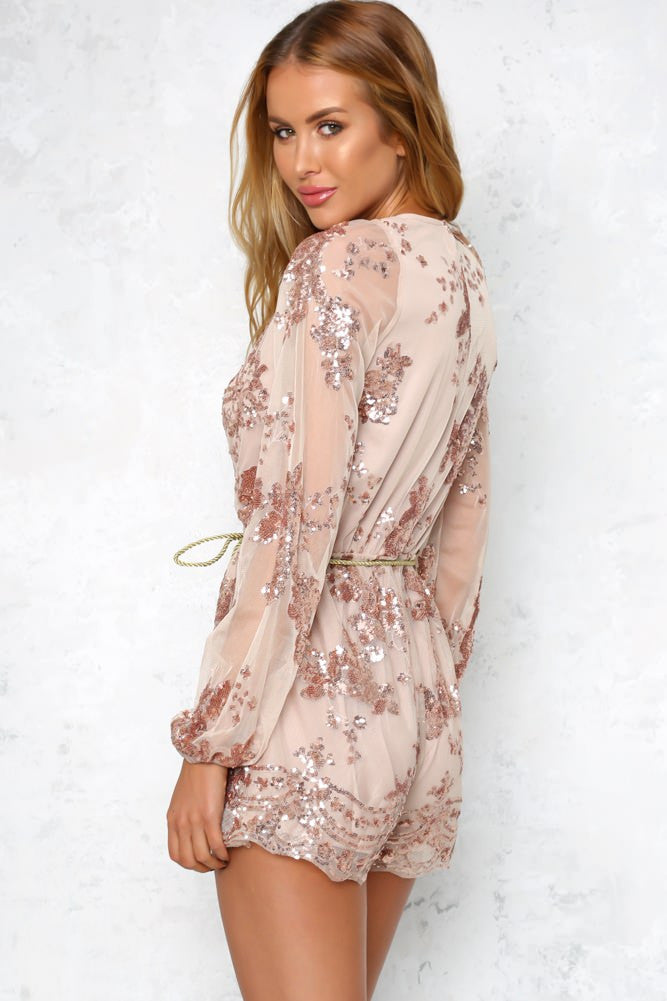 Lust Lux Playsuit Rose Gold - Lovecy - 6