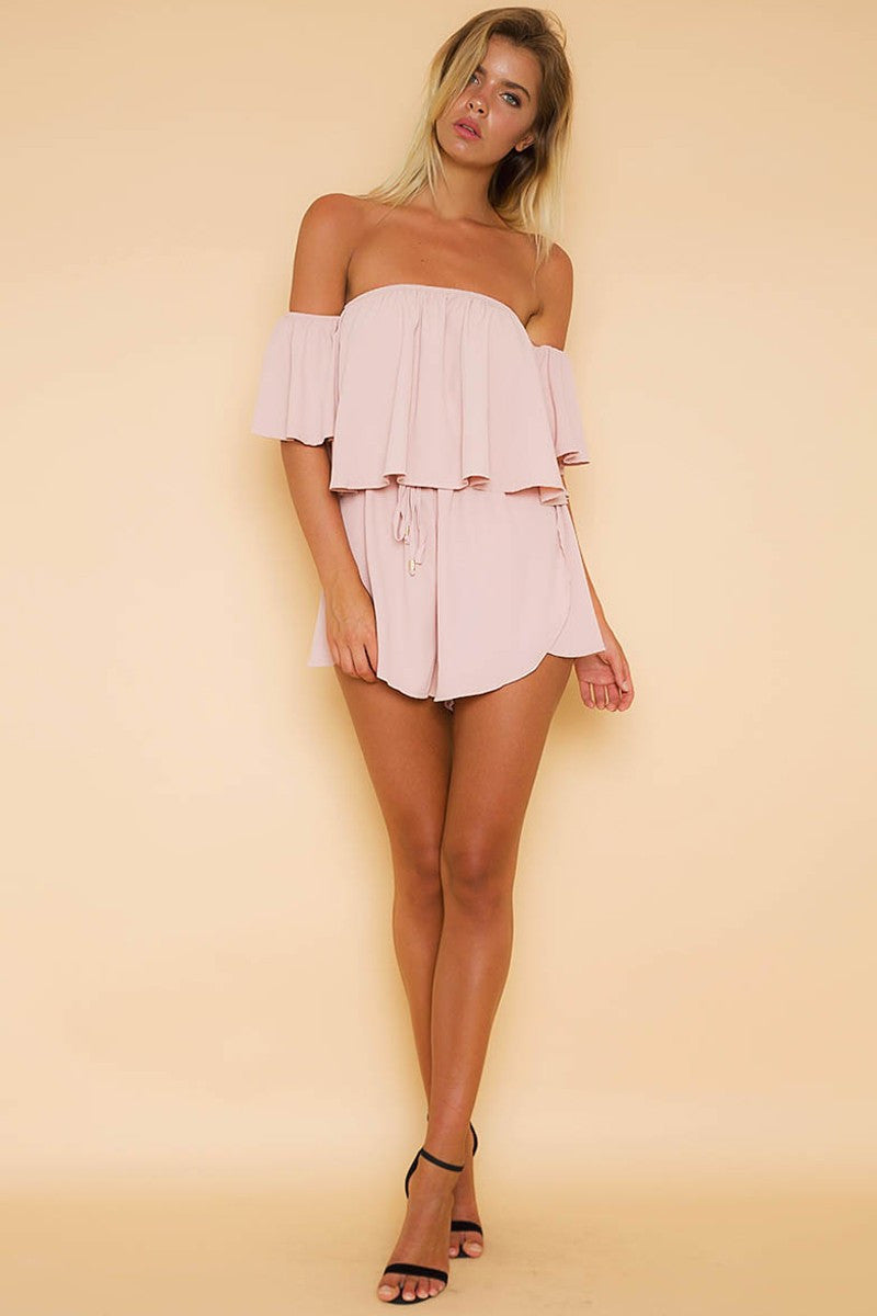 Catya Playsuit - Pink