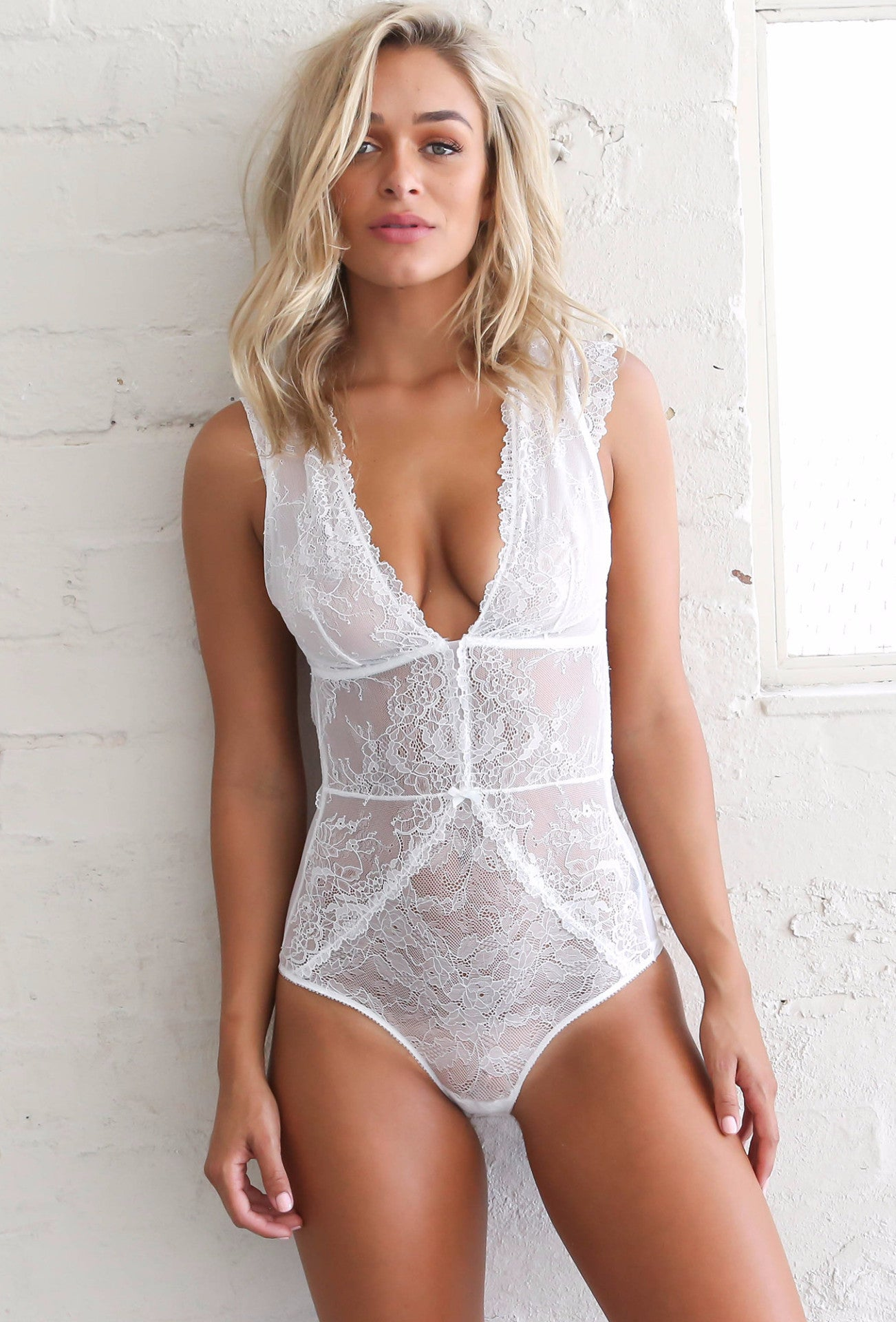 Ever So Sweet Bodysuit - White - Lovecy - 1