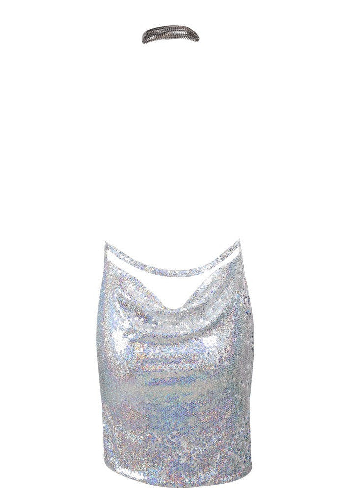 Kendall Sequin Dress - Silver Holo - Lovecy - 10