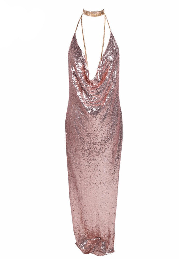 Kendall Sequin Maxi - Rose Gold - Lovecy - 2