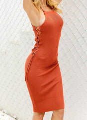 Delilah Bodycon Dress - Orange