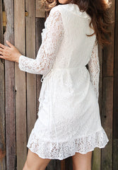 Kiss Lace Dress - White
