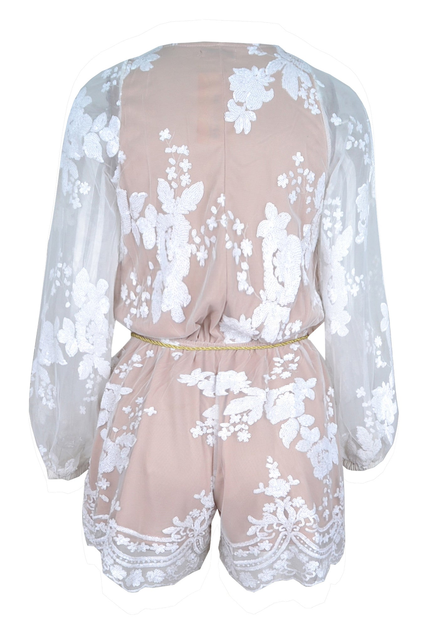 Lust Lux Playsuit - White - Lovecy - 5