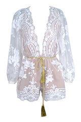Lust Lux Playsuit - White - Lovecy - 4