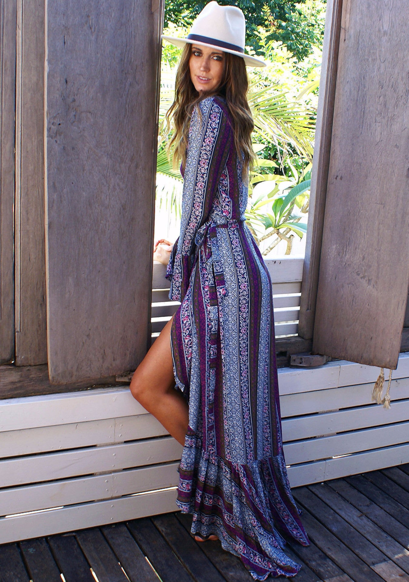 Savannah Maxi Dress - Plum